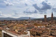 Взгляд Флоренса от церков Santa Maria del Fiore, Ita панорамы Стоковые Фотографии RF