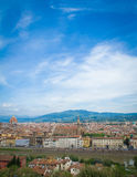 Взгляд Флоренс, Тосканы, Италии Стоковое Фото
