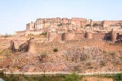 Взгляд форта Mehrangarh в солнечном дне стоковое фото