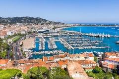 взгляд Франции города cannes южный Стоковое Изображение RF