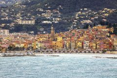 Взгляд французского побережья стоковое изображение rf