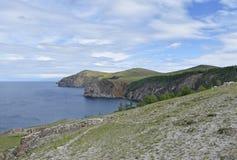 Взгляд холмов и Lake Baikal Стоковая Фотография RF