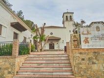 Взгляд церков в деревне подковы стоковые фотографии rf