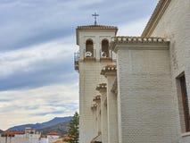 Взгляд церков в деревне подковы стоковое фото