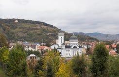 Взгляд церков святой троицы и старого города от форта Стоковые Фото