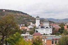 Взгляд церков святой троицы и старого города от fortr Стоковая Фотография