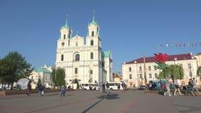 Взгляд церков Св.а Франциск Св. Франциск Xavier, дня в апреле Grodno, Беларусь