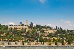 Взгляд церков Dormition, Иерусалима, Израиля Стоковая Фотография