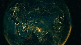 Взгляд цифров соединенной восточной полусферы иллюстрация штока