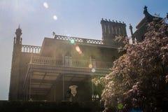 Взгляд части стороны дворца Vorontsov с балконом Крымом Стоковые Изображения