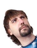взгляд человека серьезный строгий Стоковая Фотография RF