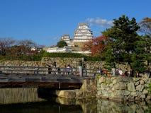 Взгляд чудесного замка Himeji в Японии стоковые изображения rf