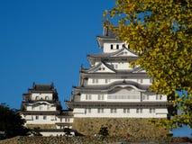 Взгляд чудесного замка Himeji в Японии стоковые фотографии rf