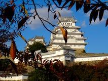 Взгляд чудесного замка Himeji в Японии стоковое фото rf