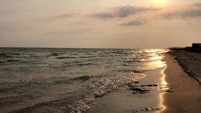 Взгляд Чёрного моря на вечере лета, Украины видеоматериал