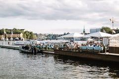Взгляд шведского архипелага в Стокгольме, Швеции стоковые изображения rf