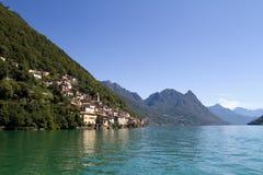 взгляд Швейцарии gandria южный Стоковая Фотография