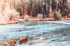 Взгляд широкого реки горы, рта реки Стоковое Изображение RF