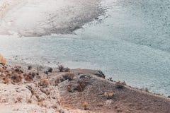 Взгляд широкого реки горы, рта реки Стоковая Фотография RF