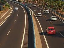 Взгляд шоссе сфотографировал от моста Стоковая Фотография