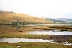взгляд Шотландии озера стоковая фотография rf