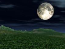 Взгляд 2 луны иллюстрация штока