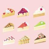 взгляд 9 cheesecake различный причудливый Стоковые Фото