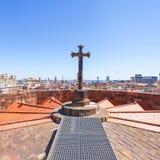 Взгляд aeral города Барселоны панорамный, Испания Стоковые Изображения RF