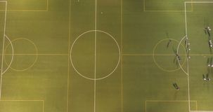 Взгляд Aereal футбольного стадиона сток-видео