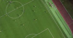 Взгляд Aereal футбольного стадиона акции видеоматериалы