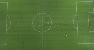 Взгляд Aereal футбольного стадиона видеоматериал
