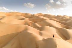 Взгляд Aeril пустыни Liwa, части пустого квартала, самого большого co стоковая фотография