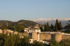 взгляд alhambra granada Стоковая Фотография