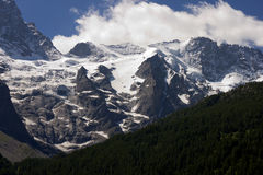 Взгляд Alps-Европы Стоковые Изображения RF