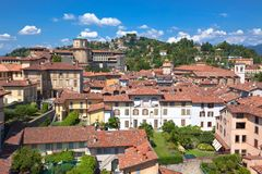 взгляд alta bergamo Италии Стоковое фото RF