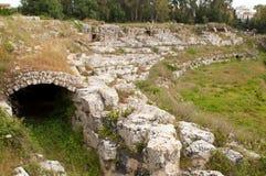 взгляд amphitheatre стародедовский римский Стоковая Фотография