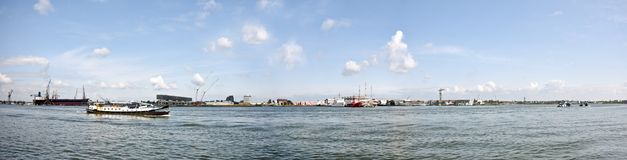 взгляд amsterdam промышленный нидерландский Стоковая Фотография