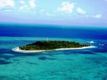 Взгляд Areial зеленого острова стоковые изображения rf