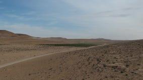 Взгляд Ariel горизонта пустыня Негев в Израиле сток-видео