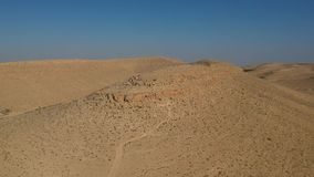 Взгляд Ariel mountins на пустыня Негев в Израиле акции видеоматериалы