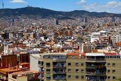 взгляд barcelona панорамный Стоковое Изображение