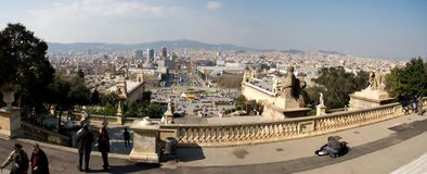 взгляд barcelona панорамный Стоковая Фотография RF