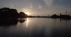 Взгляд Beaeutiful реки в Kedah Малайзии сток-видео
