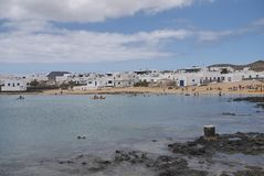 Взгляд Caleta del Sebo стоковая фотография