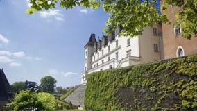 Взгляд castel короля Генри 4 Франции в городе Pau стоковое фото rf