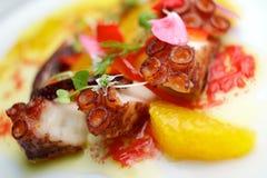 Взгляд ceviche осьминога Стоковое Фото