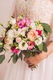 Взгляд Closup красивого bridal букета Стоковое Изображение RF