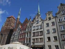 Взгляд Danzig со старыми зданиями и chuch стоковые изображения rf