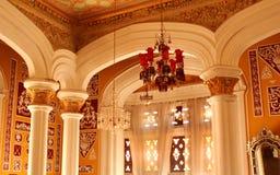 Взгляд darbar орнаментов залы в дворце Бангалора Стоковые Фото