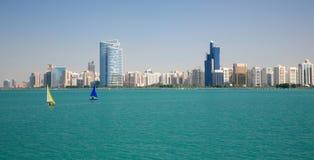 взгляд dhabi города ahu Стоковое фото RF